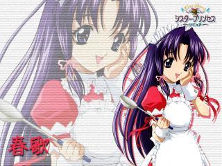 обои Haruka maid sister princess фото