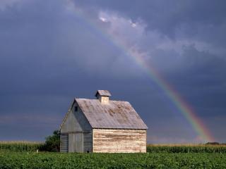 обои Грозовое небо и радуга фото