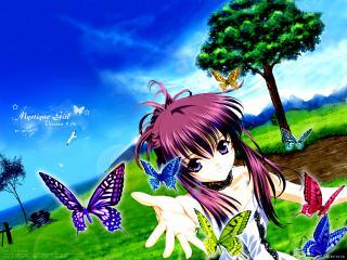 обои Butterfly chikage sister princess tenhiro naoto фото