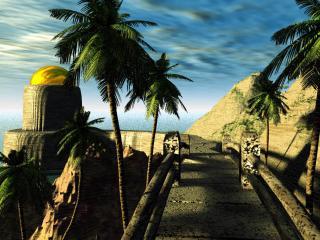 обои для рабочего стола: Фантастический остров