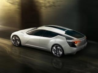 обои Белая машина в тоннеле фото