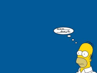 обои Гомер Симпсон думает фото