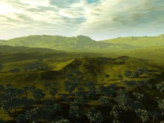 обои для рабочего стола: Зеленая долина