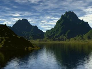 обои для рабочего стола: Озера среди гор