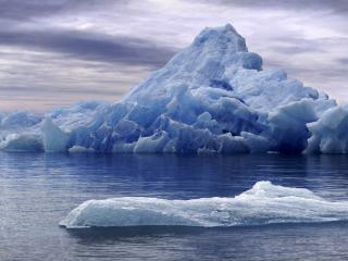 обои Маленький и большой айсберги фото