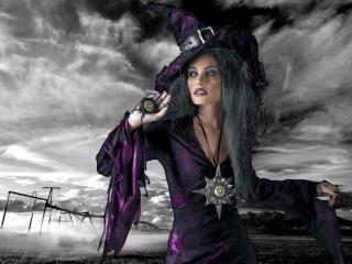 обои Ведьма в колпаке фото
