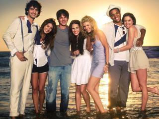обои Каст 90210 на пляже фото