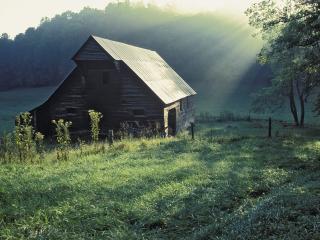обои Tipton Place,   Cades Cove,   Great Smoky Mountains National Park,   Tennessee фото