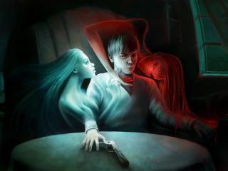 обои Ангел и демон фото