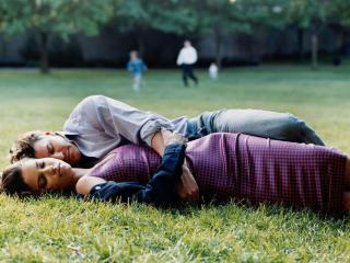 обои Лима с Бориназом на травке фото