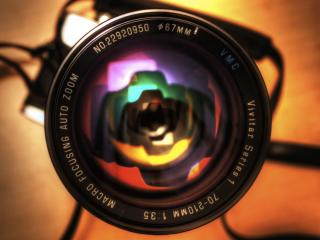 обои Отражение в объективе фото