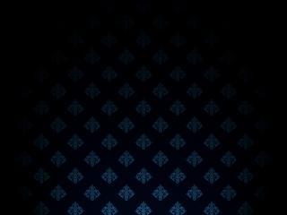обои Синие узоры на чёрном фоне фото