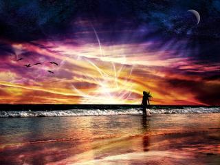 обои Берег моря фентези фото