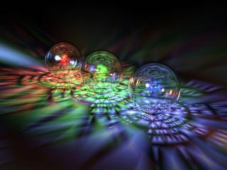 обои Разноцветные стеклянные шары фото