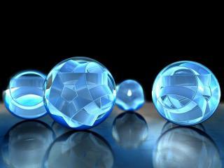 обои Синие шарика в 3д фото