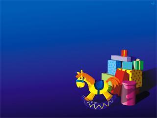 обои Детские игрушки на синем фоне фото