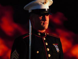 обои Американский солдат в форме фото