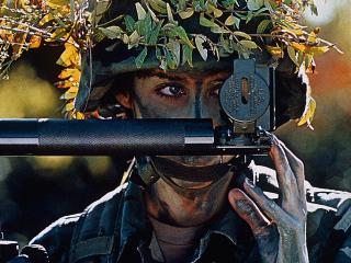 обои Солдат артилерии фото