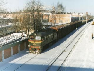 обои Поезд зимой фото