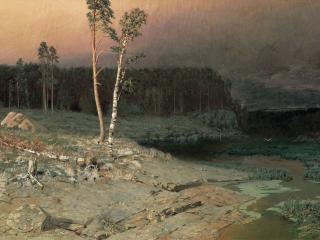 обои На острове Валааме. 1873, холст, масло, 76х130 см фото