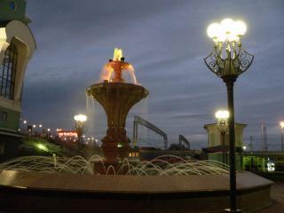 обои Вечерний фонтан фото