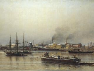 обои Набережная Невы. 1876. Холст, масло фото