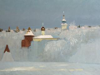 обои Анохин  Русская зима фото