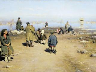 обои Лед прошел. 1895, холст, масло, 70х136 см фото