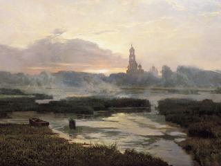 обои Утро Серафимо-Дивеевской Лавры фото