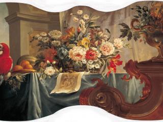 обои Цветы, фрукты, попугай. 1754 фото