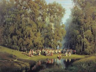 обои Суходольский Петр (1835-1903). Троицын день. 1884. Холст, масло фото