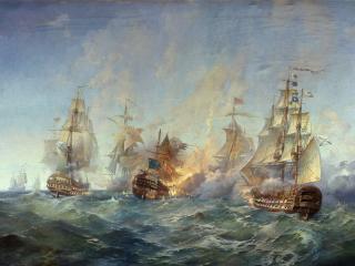 обои Сражение у острова Тендра фото
