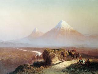 обои В горах. Вид на Арарат фото