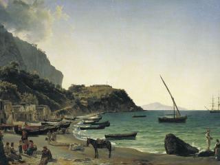 обои Большая гавань на острове Капри. 1828 фото