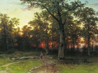 обои Лес вечером. 1869. Холст, масло фото
