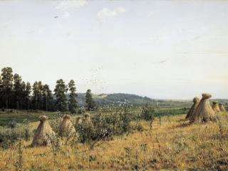 обои Пейзаж Полесья. 1884, холст, масло, 72х118 см фото