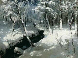 обои Ручей в лесу. 1906, холст, масло, 77х104 см фото