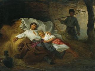 обои На сеновале. 1872. Холст, масло фото