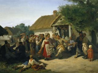 обои Хоровод в Курской губернии. 1860. Холст, масло фото