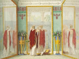 обои Душенька любуется собою в зеркало. 1821 фото