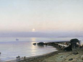 обои для рабочего стола: На берегу моря. 1882, холст, масло, 72х128 см