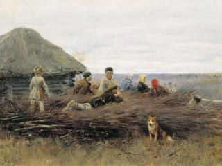 обои Дети на хворосте. 1899, холст, масло, 48х72 см фото