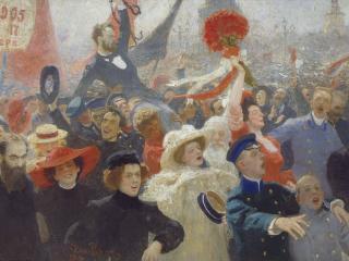 обои 18 октября 1905 года. 1907-1911. Холст, масло. 184х323 см фото
