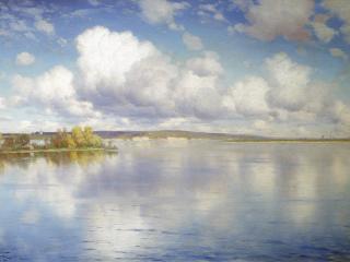 обои Озеро. 1896, холст, масло, 54х85 см  фото