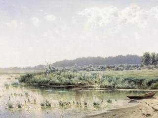 обои Перед полуднем. 1885, холст, масло, 75х133 см фото