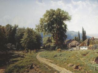 обои Хутор в Малороссии. 1884. Холст, масло фото