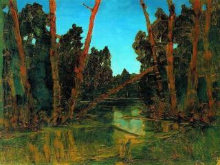 обои Лесное болото. 1898-1908 фото