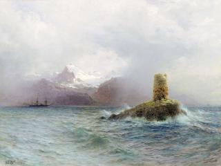 обои Лафотенский остров. 1895. Холст, масло, 80х105 см фото