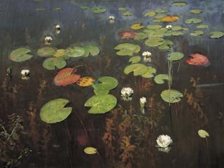 обои Лилии. Ненюфары. 1895, холст, масло, 95х128 см фото