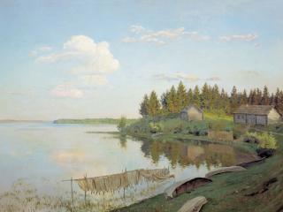 обои На озере. 1893, холст, масло, 109х163 см фото